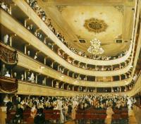 Зал старого дворцового театра в Вене