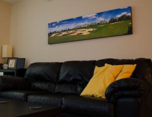 Панорама на холсте для офиса
